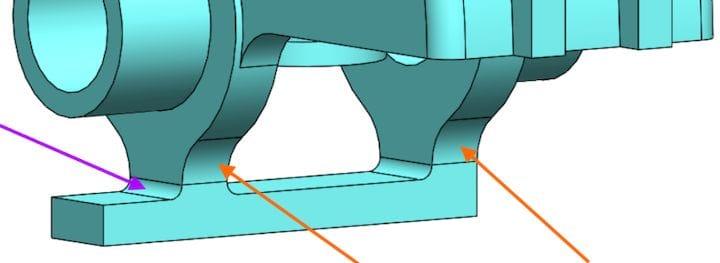 Improved part design using fillets [Source: SOLIDWORKS]