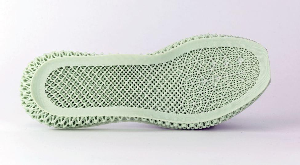 Intricately designed 3D printed midsole lattice [Source: Carbon]