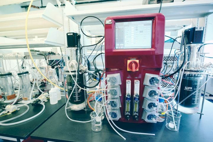 Equipment used to produce 3D printable PHA from organic waste [Source: Genecis]