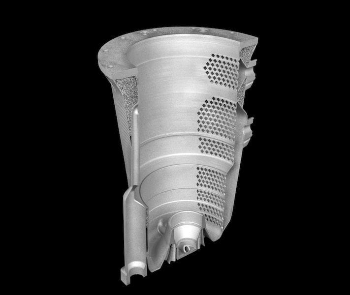 A complex aerospace generator housing using lattices made by Betatype for Safran Electrical & Power [Source: Betatype]