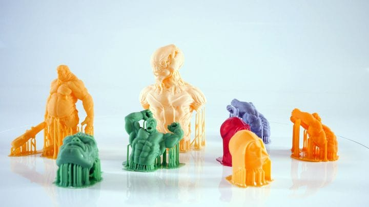 Sample prints from the new Prusa SL1 look pretty good [Source: Prusa]