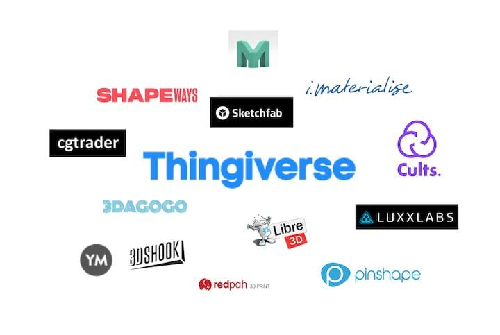 There are dozens of 3D model repositories [Source: Fabbaloo]