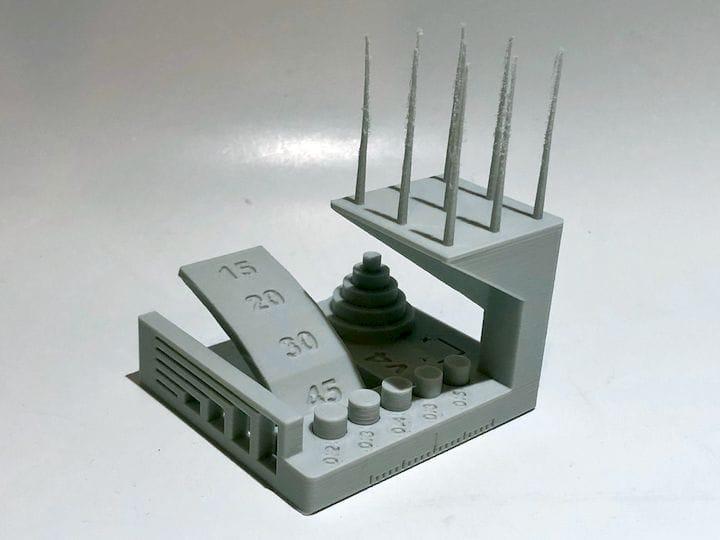 Sample print of the new Autodesk / Kickstarter 3D print test model [Source: Fabbaloo]