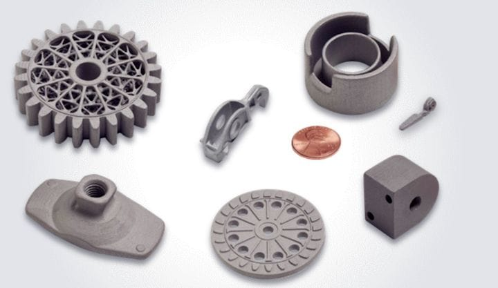 Good quality 3D metal prints from the HP Metal Jet process [Source: HP]