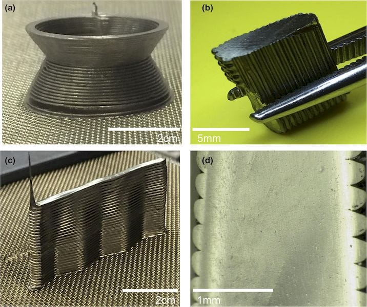 3D printed metallic glass samples, using a filament extrusion process [Source: ScienceDirect]