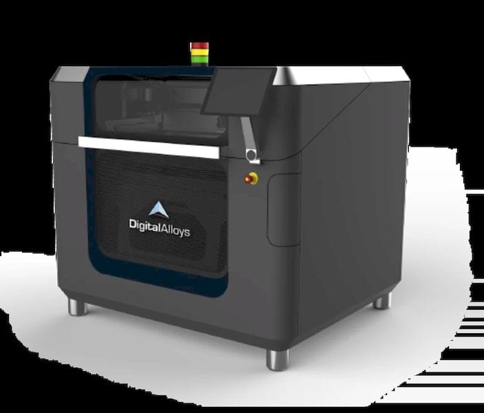 A rendering of the Digital Alloys metal 3D printer. (Image courtesy of Digital Alloys.)