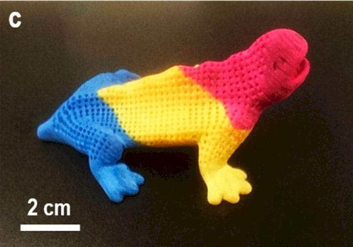 Brilliantly dyed SLS 3D prints using a new method of producing white objects [Source: ACS]