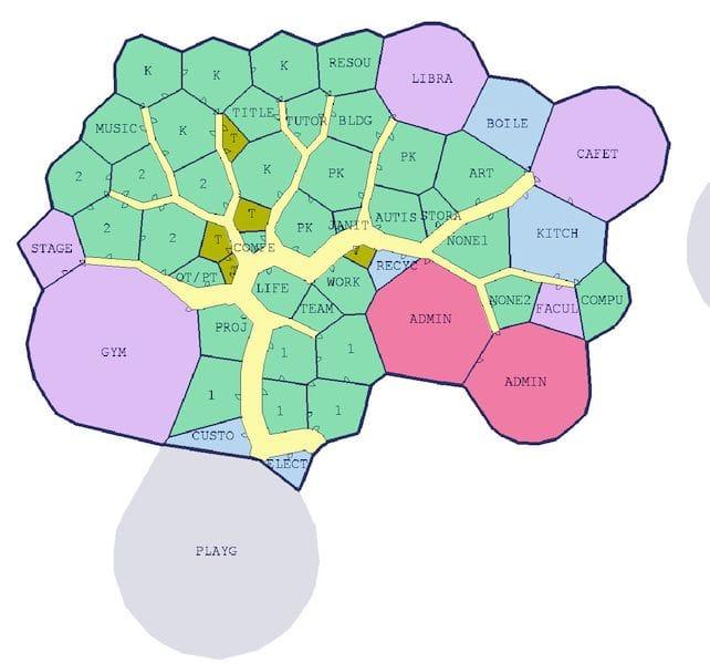 A computer-generated floor plan