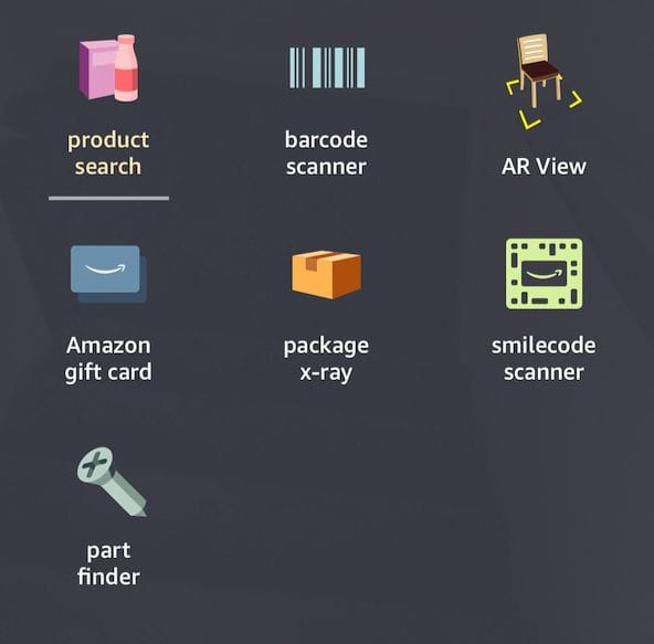 Amazon's PartFinder is buried inside their app's camera system