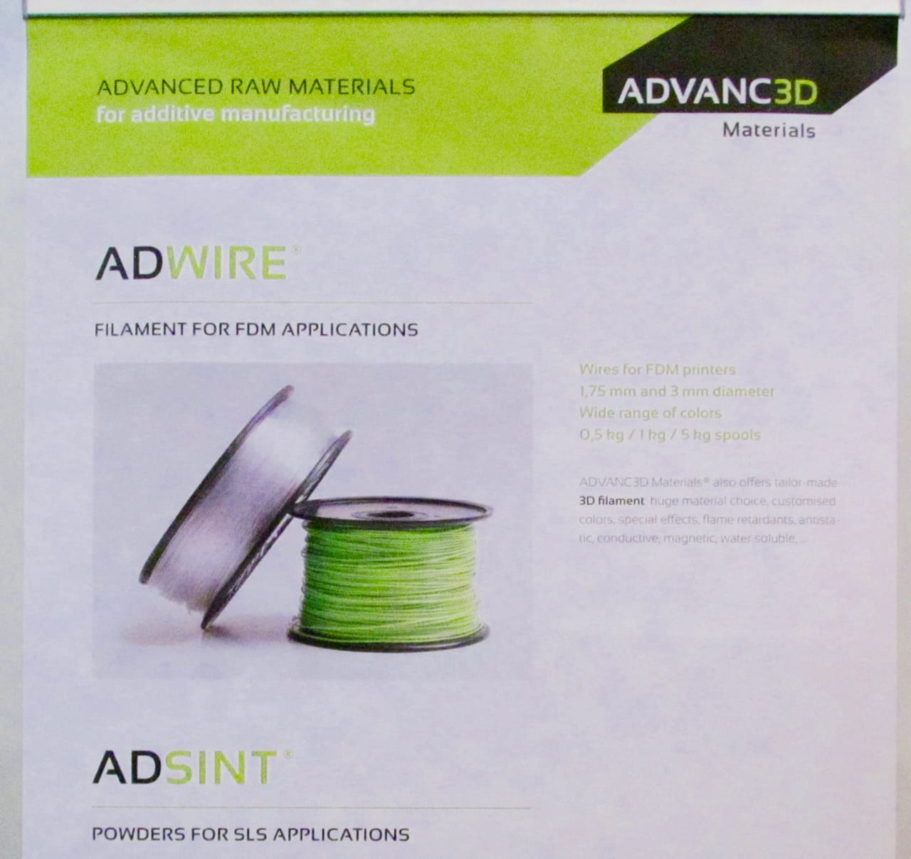 Earlier marketing material from ADVANC3D Materials showing they do produce 3D printer filaments