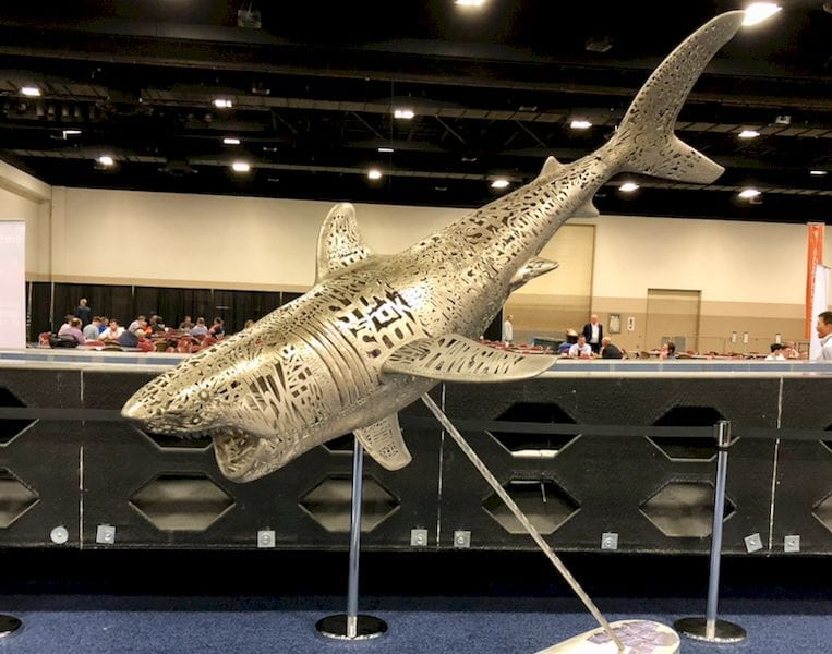 A full view of the 2m Emptiness of Shark 3D print