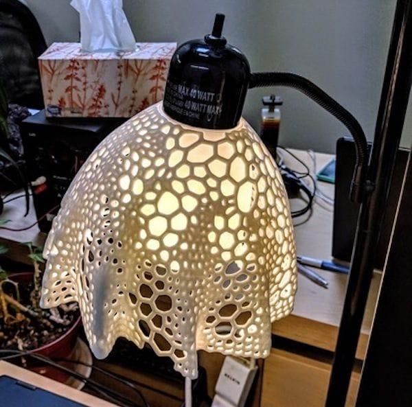 , Design of the Week: Voronoi Flower Lampshade