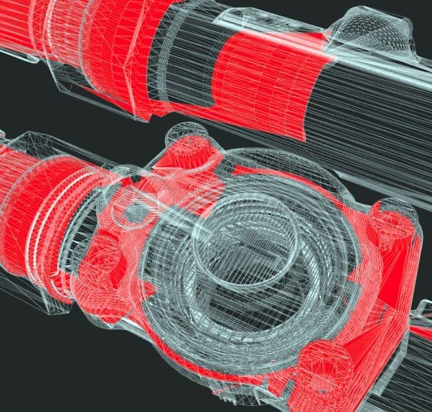 View from the Emendo Cloud 3D model repair service