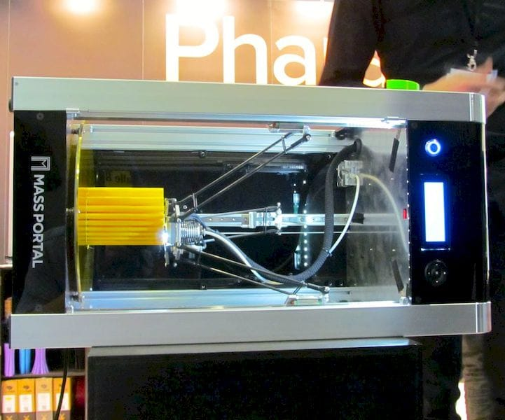 Another 3D printer operating on its side, from Mass Portal