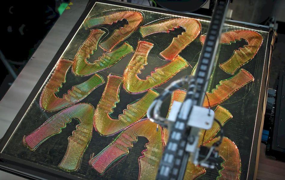 Freshly 2D printed Nike Flyprint uppers