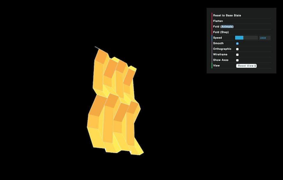 An example folded geometry from FoldStar