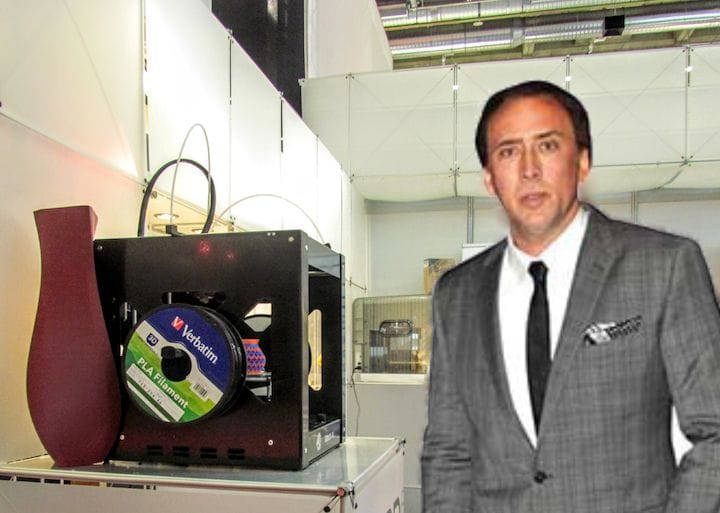 , Would You Buy Nic Cage's New 3D Printer?