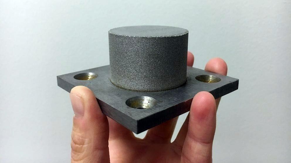 A sample metallic glass 3D print