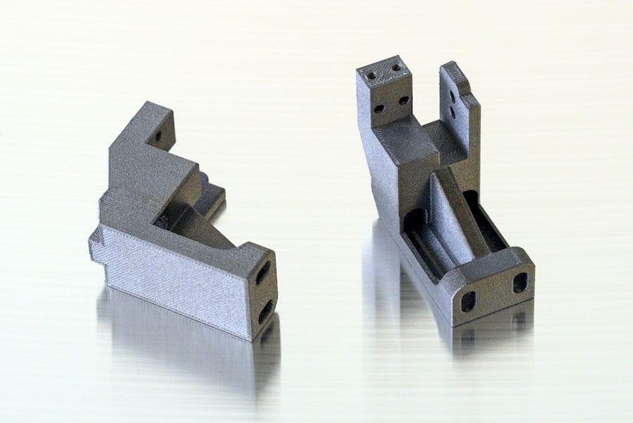 Brackets 3D printed in PEEK on the AON-M2