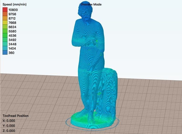 The repaired 3D model sliced and ready for 3D printing