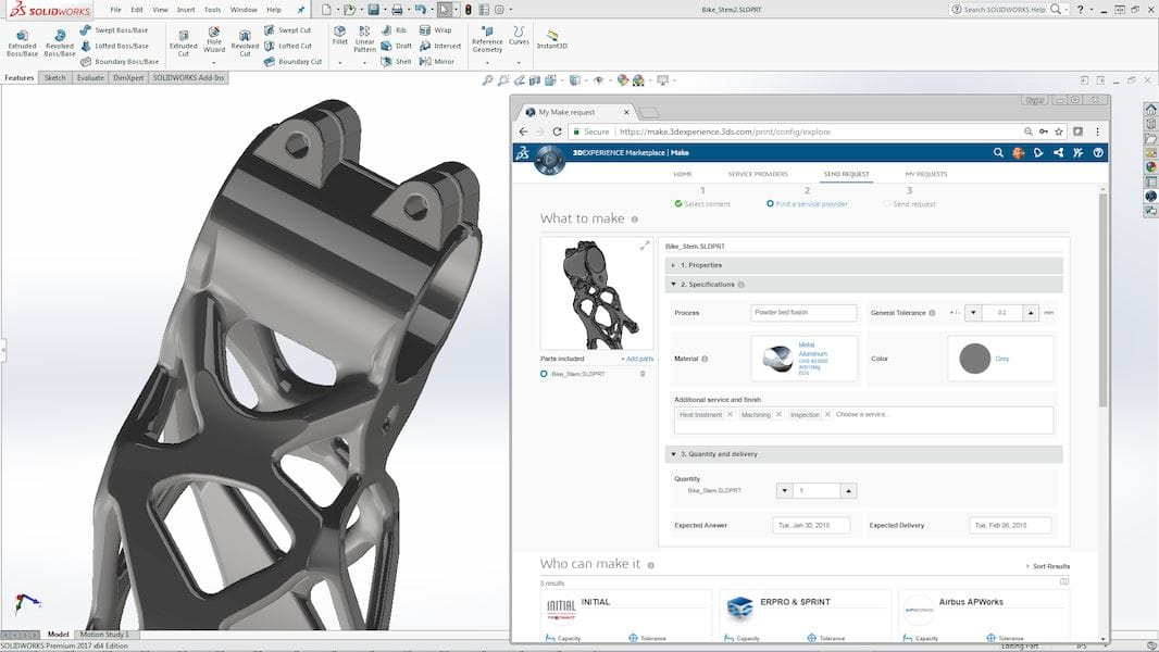 The 3DEXPERIENCE Marketplace Make system