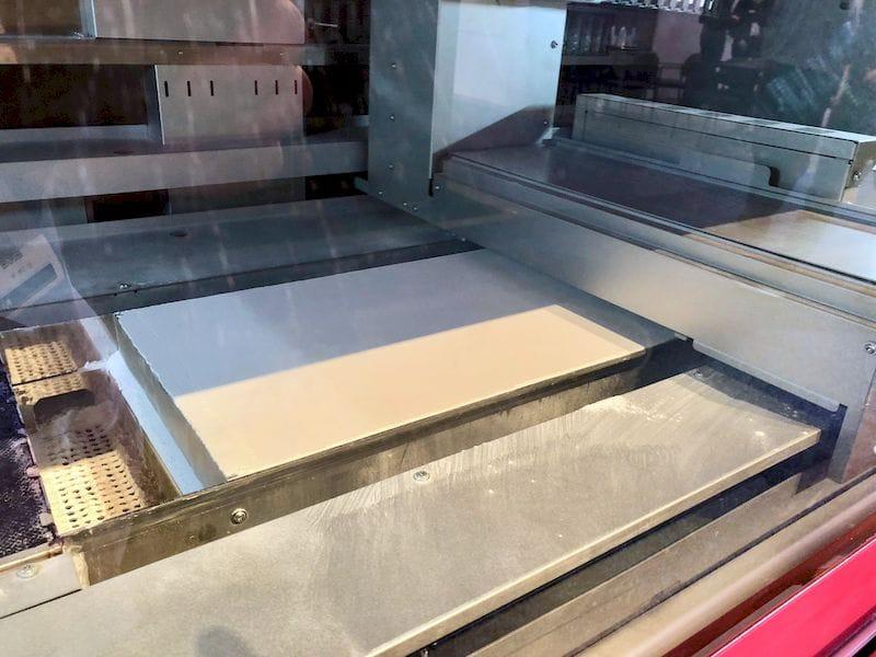 Inside the XYZprinting PartPro350 xBC, showing the powder bed