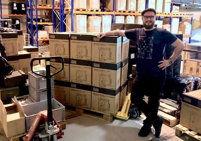 Josef Prusa taking care of his 3D printing business
