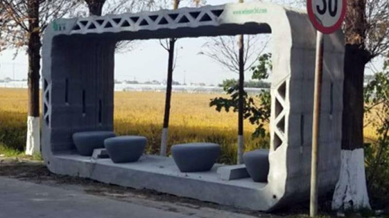 Winsun's 3D Printed Bus Shelter