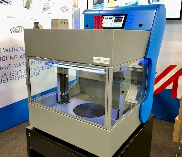 The Evo-Lizer desktop 3D metal and plastic printer from EVO-tech