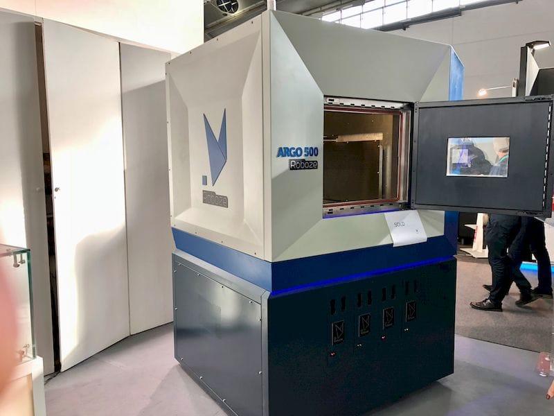 The prototype Argo 500 production 3D printer from Roboze