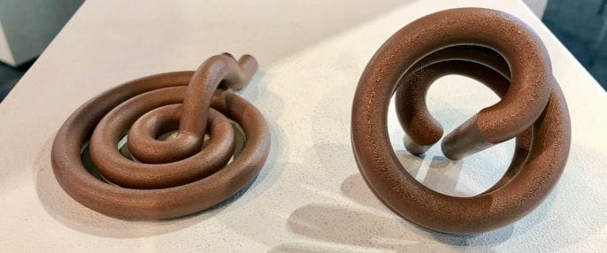 Two different copper inductors generated by Trinckle's system