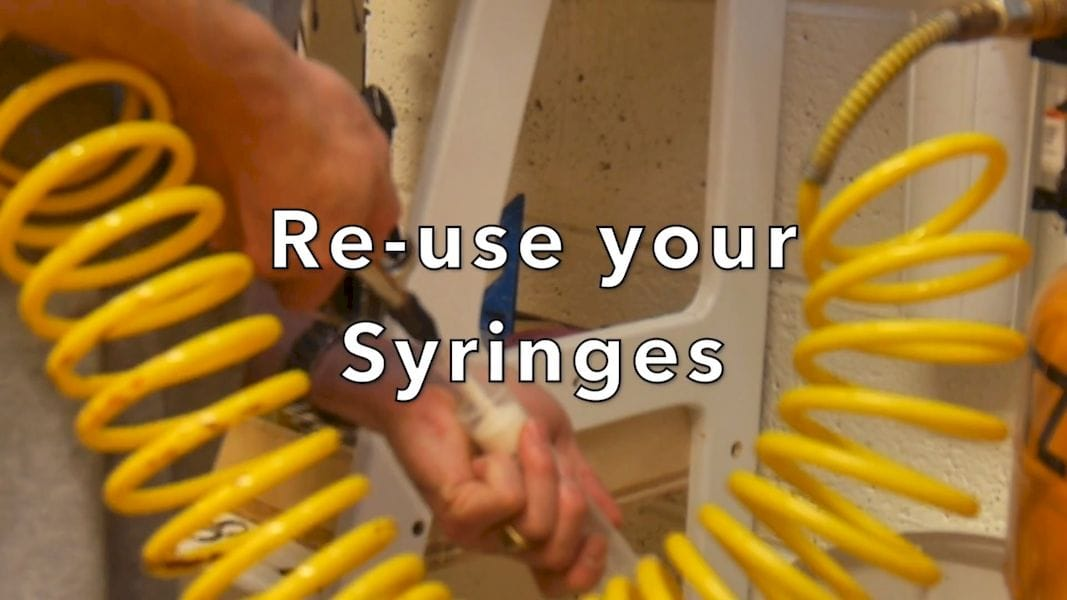 It's possible to re-use syringes during casting