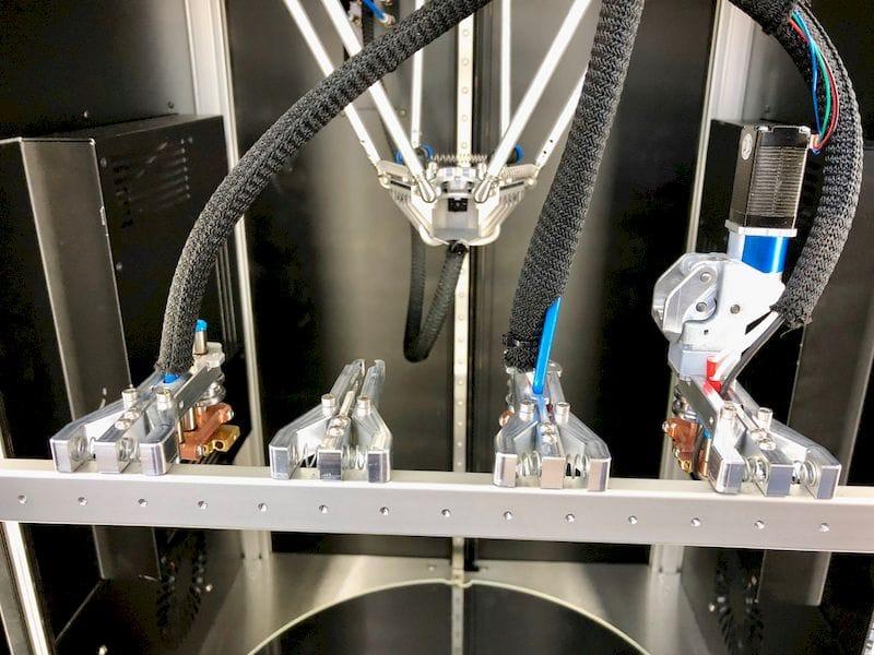 Mass Portal's delta 3D printer tool changing system