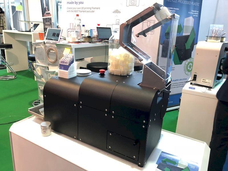 3DEVO's SHR3D IT thermoplastic pellet machine