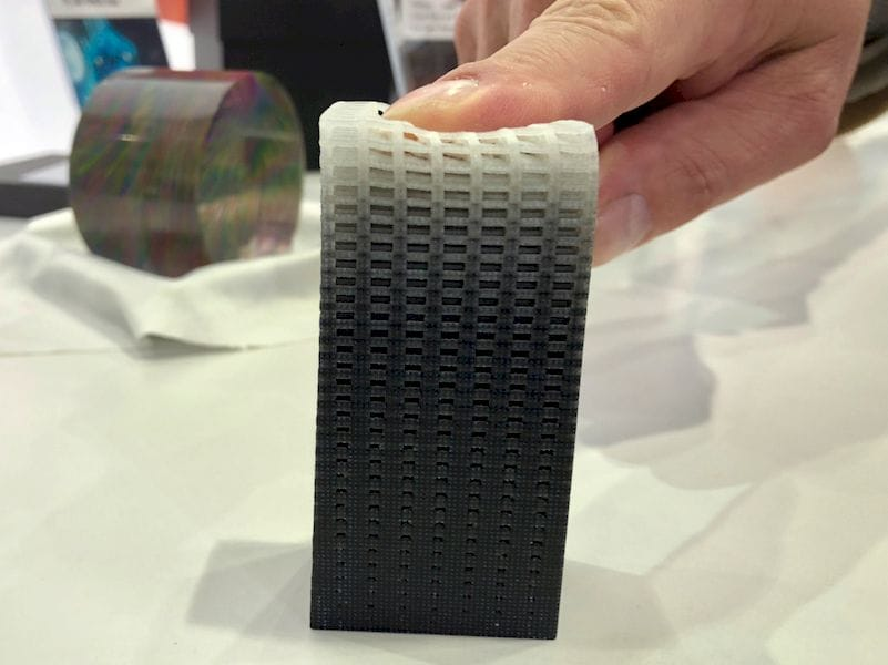 A 3D printed object with a continuous