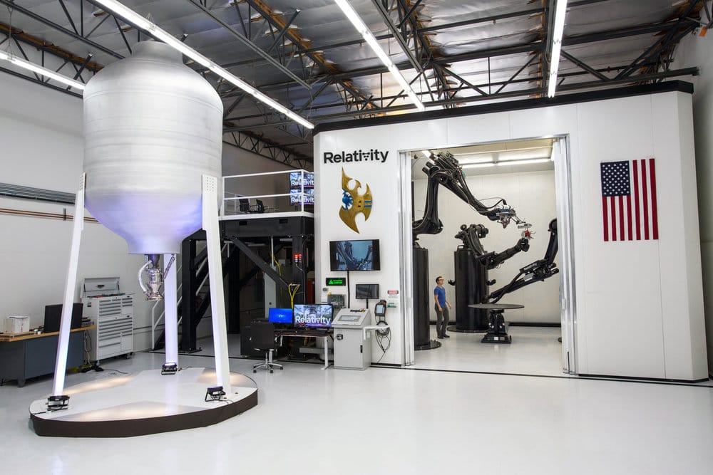 Relativity Space's 3D rocket printer, with