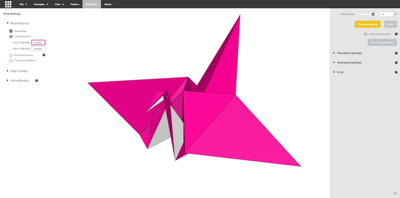 , Discover the Ins and Outs of Folding Patterns with this Origami Simulator