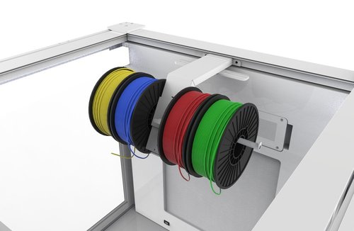 A quad-spool holder for the 3DPrintClean 3D printer enclosure models