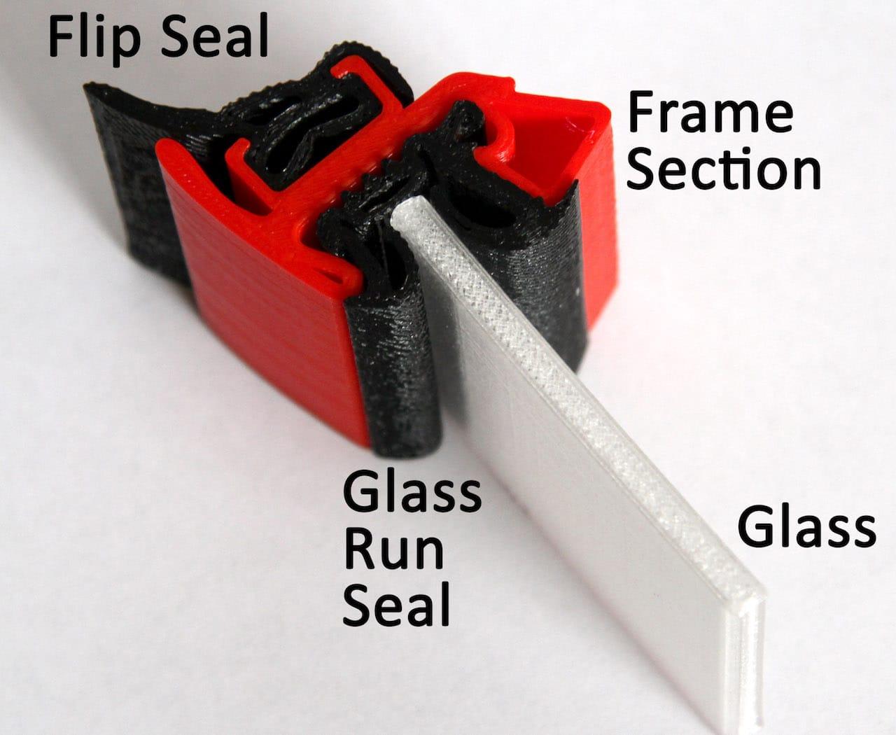 An example application of Verbatim's new PRIMALLOY BLACK flexible 3D printer filametn
