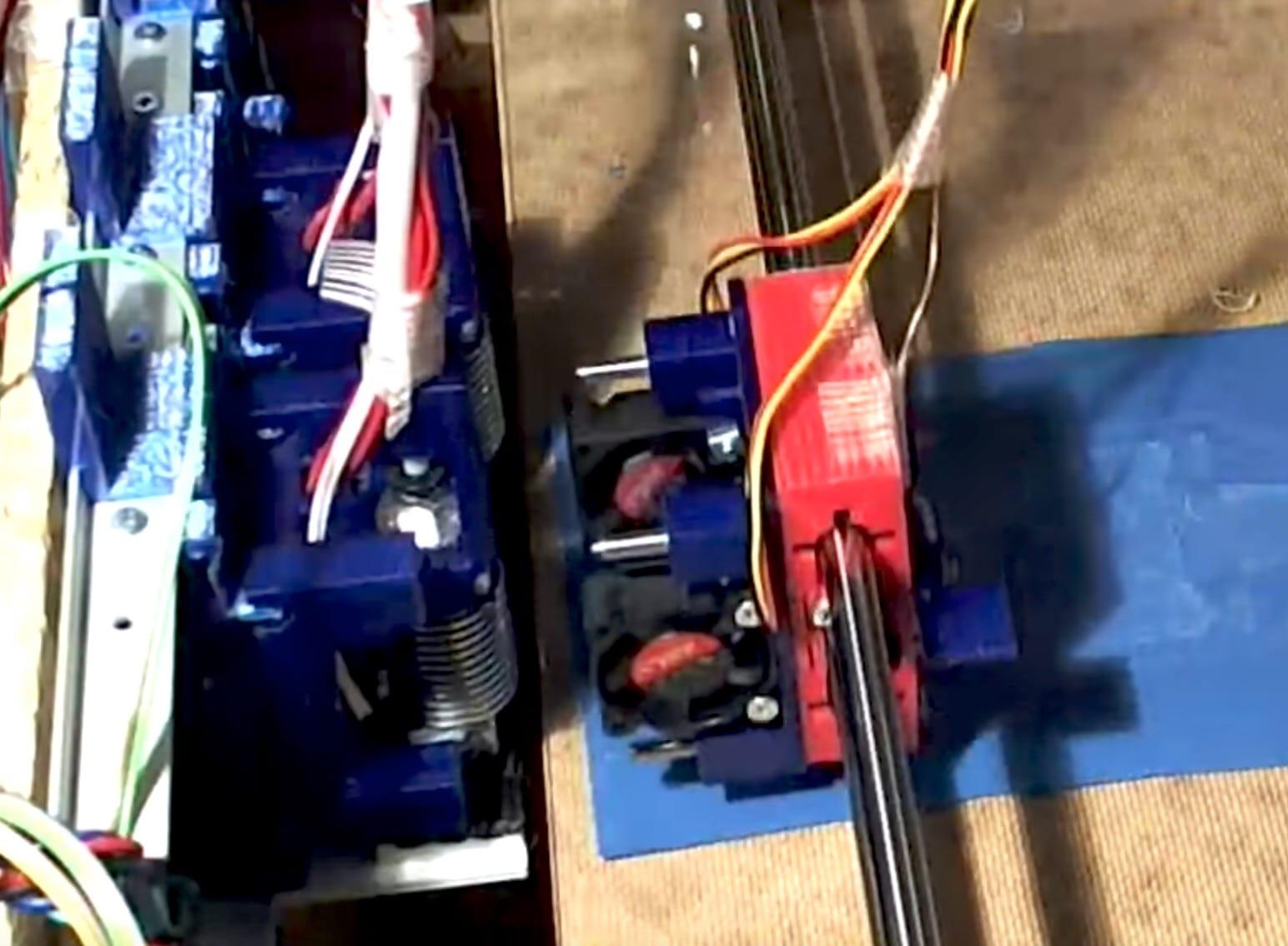 Fascinating Experimental 3D Printer Tool Switcher
