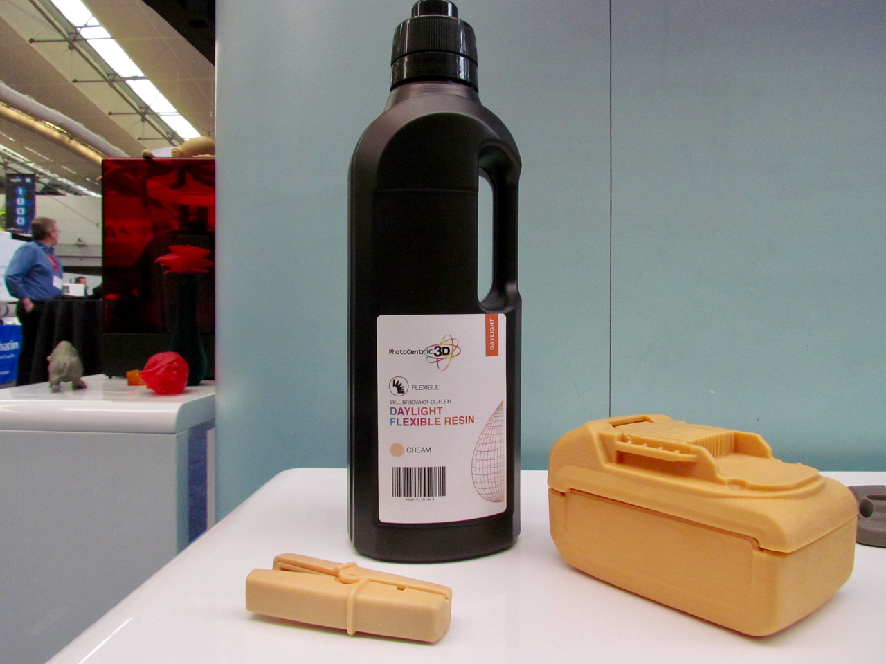 One of Photocentric's 3D printer photopolymer resins