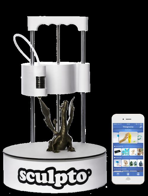 The Spinny Sculpto Desktop 3D Printer