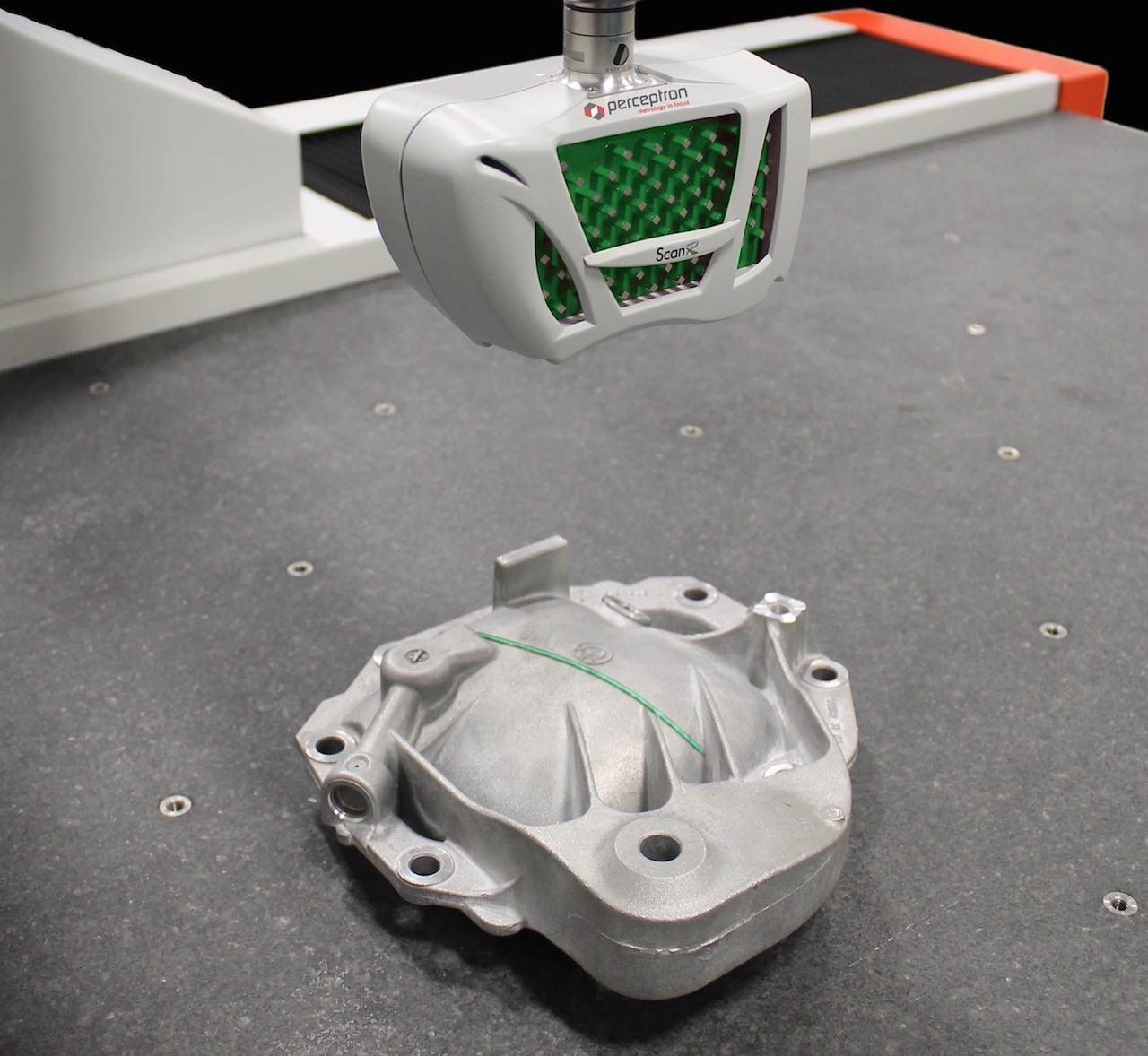 3D scanning a completed part to ensure it meets specifications