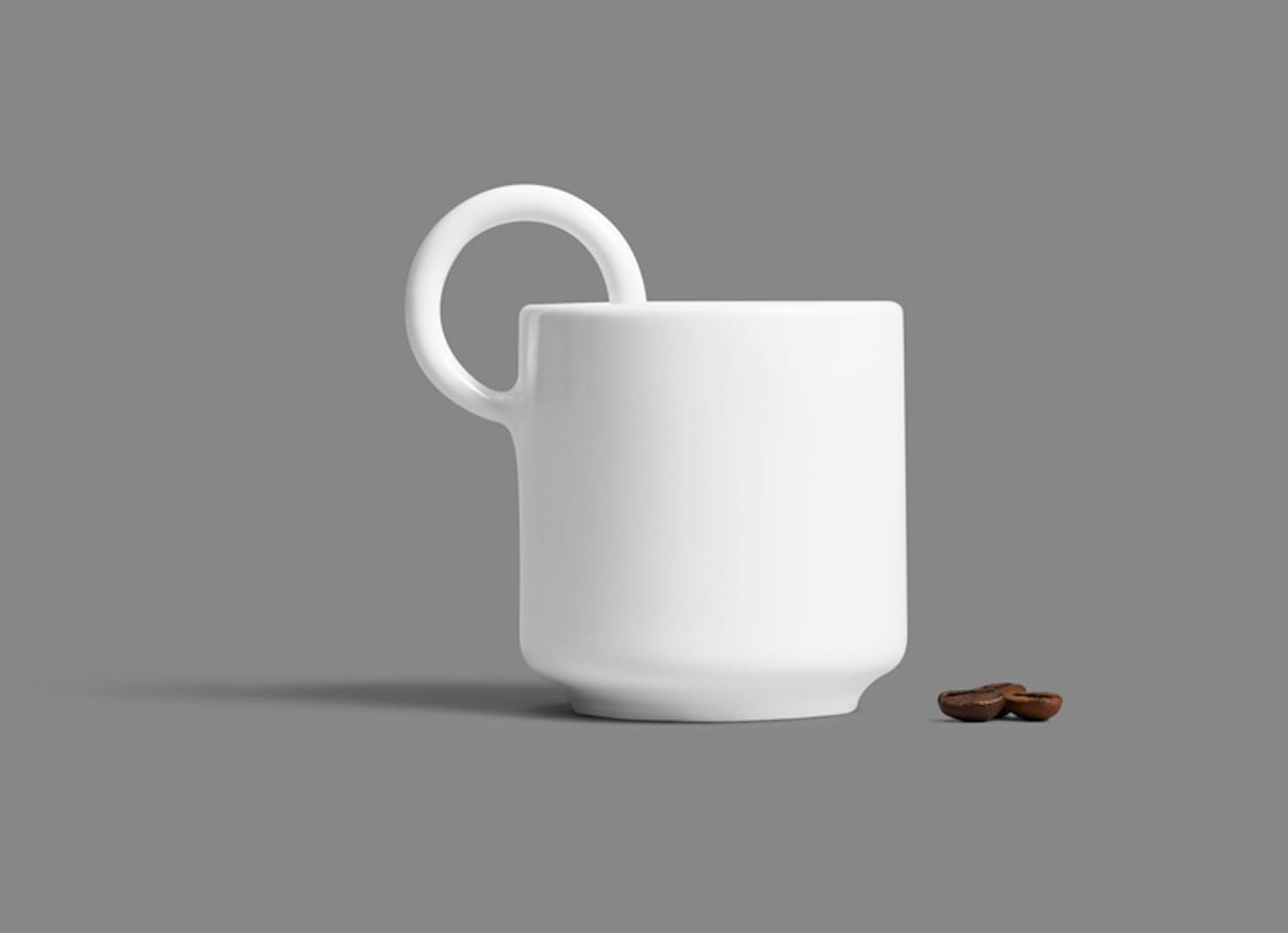 The 3D printed ceramic Cerco Espresso Cup