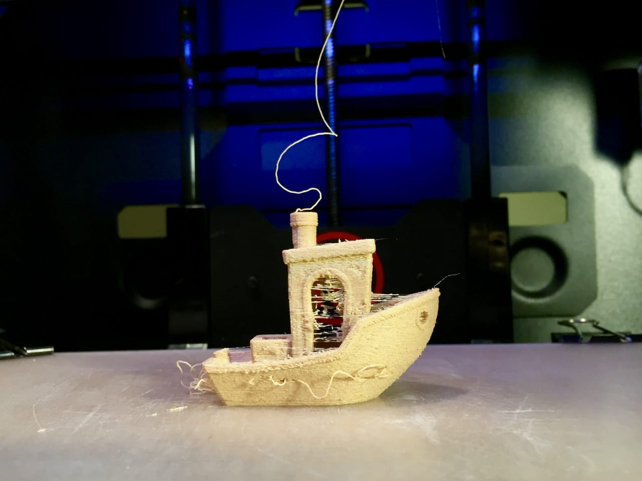 Fiberlogy's Fiberwood 3D printer filament often seems a bit drippy