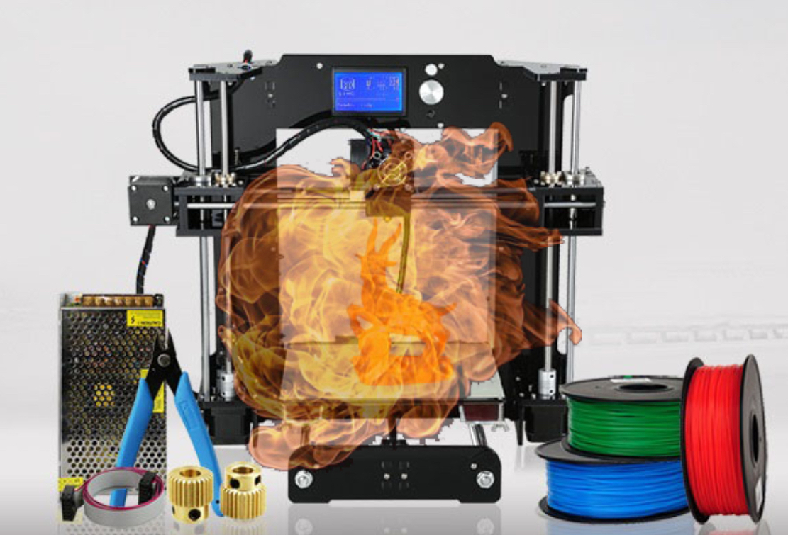 , The Dangers of Home 3D Printing: Printer on Fire!