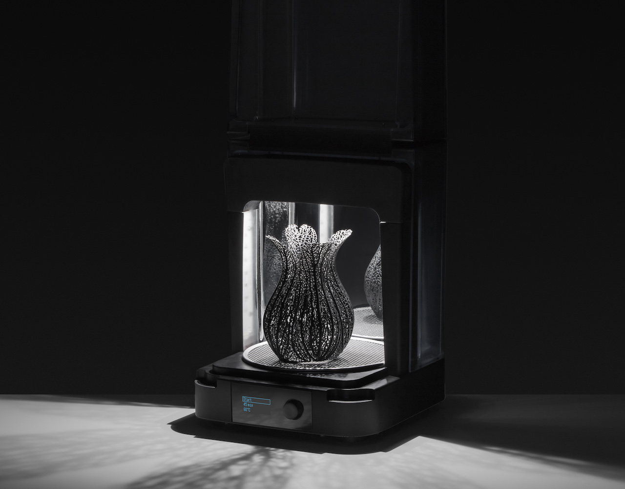 The new Formlabs Form Cure, shown curing a Nervous System 3D design