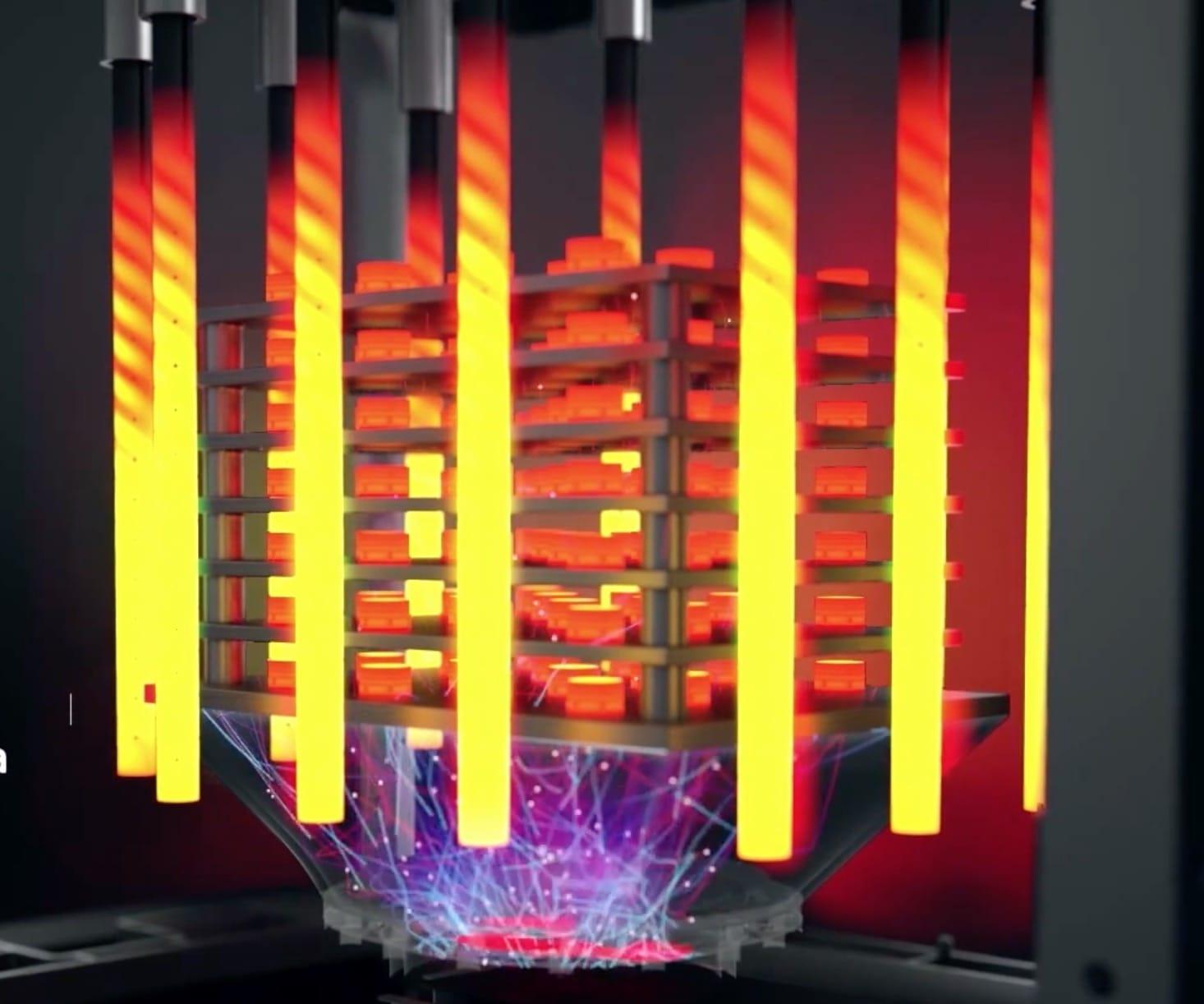 Desktop Metal's hybrid heat / microwave sintering furnace