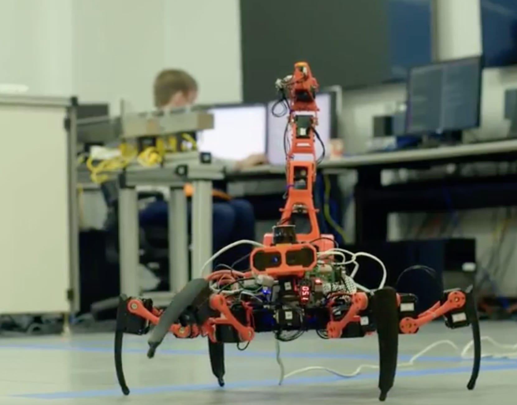 Siemens' experimental 3D printing robot on the shop floor