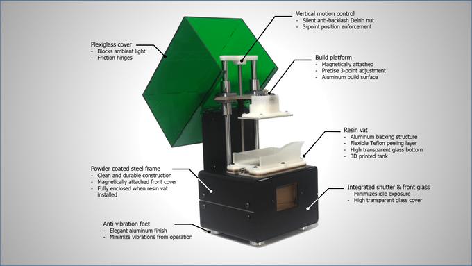 , The MONO1 High Resolution 3D Printer